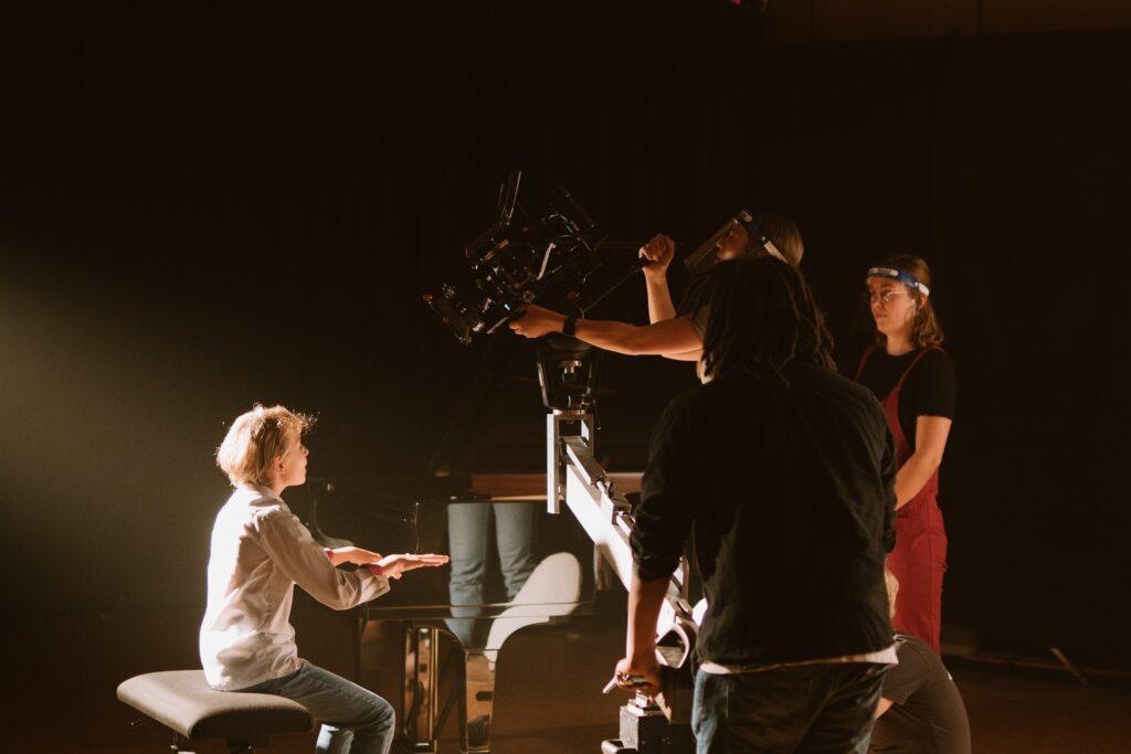 Dreharbeiten Tremolo Klavier